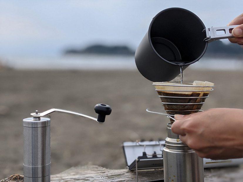 PORLEX(ポーレックス)コーヒーミル2 と UNIFLAME(ユニフレーム)コーヒーバネット cute