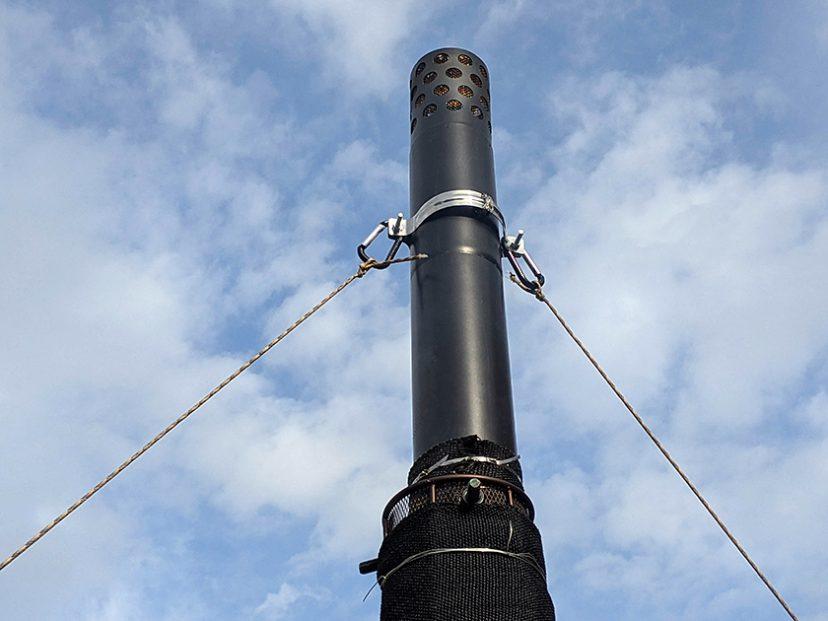 キャプテンスタッグ薪ストーブの煙突を最大延長