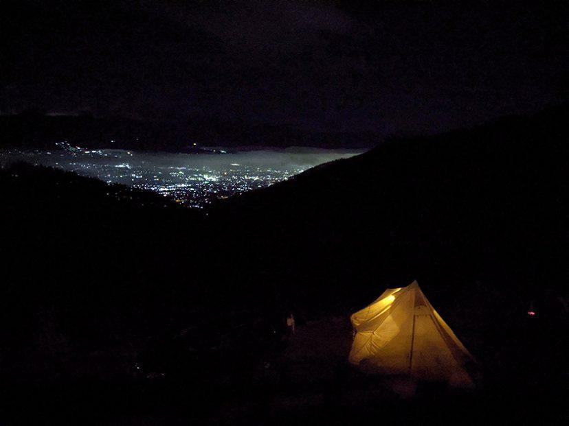 ほったらかしキャンプ場からの夜景