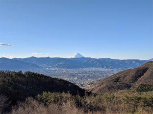 ほったらかしキャンプ場からの富士山